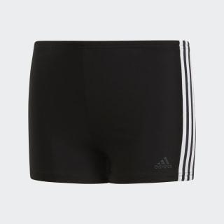 Bokserki do pływania 3-Stripes Black / White DP7540