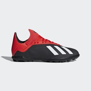 Zapatos de Fútbol X 18.3 TF J Core Black / Off White / Active Red BB9402