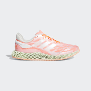 adidas 4D Run 1.0 Schuh Cloud White / Cloud White / Signal Coral FW6838