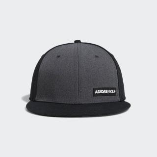 Heathered Flat-Bill Hat Black DP1626