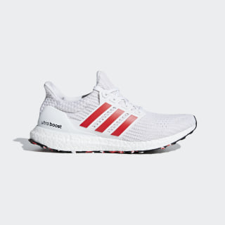 UltraBOOST Schuh Ftwr White / Active Red / Chalk White DB3199