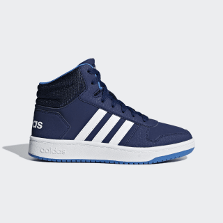 Zapatillas Hoops 2.0 Mid Dark Blue / Cloud White / True Blue F35101