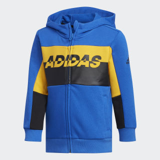 Football Track Jacket Blue / Active Gold / Black EH4047