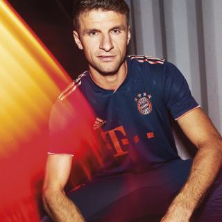 FC Bayern München Authentiek Derde Shirt Collegiate Navy / Bright Red EH4241