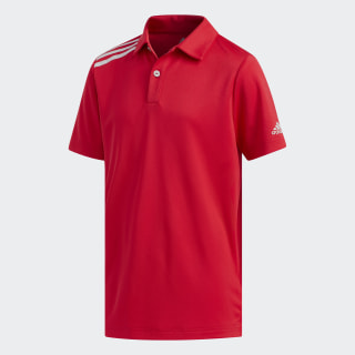 3-Stripes Tournament Polo Shirt Bold Red DX1334
