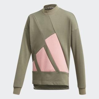 Sudadera cuello redondo The Pack Legacy Green / Glory Pink FL1792