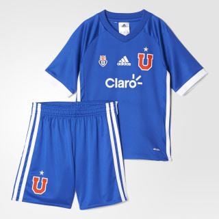 Minikit Uniforme Local Universidad de Chile Niño TOP:BOLD BLUE/WHITE BOTTOM:BOLD BLUE/WHITE B49213