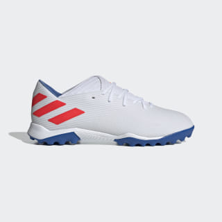 Футбольные бутсы Nemeziz Messi 19.3 TF ftwr white / solar red / football blue F34430