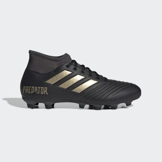 Chuteira Predator 19 4 S Superfície Firme Core Black / Gold Metallic / Utility Black EF0384