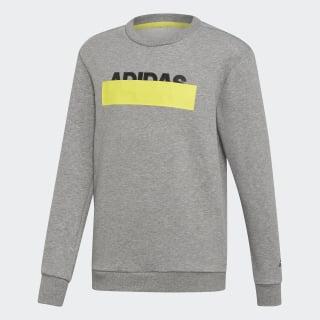 Athletics ID Lineage Crew Sweatshirt Core Heather DZ5938