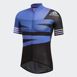 adistar Graphic Cycling Jersey Hi-Res Blue CV6688