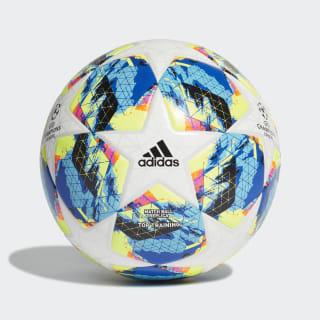Balón de Entrenamiento Finale Top White / Bright Cyan / Solar Yellow / Shock Pink DY2551