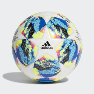 Finale Top Training Ball White / Bright Cyan / Solar Yellow / Shock Pink DY2551