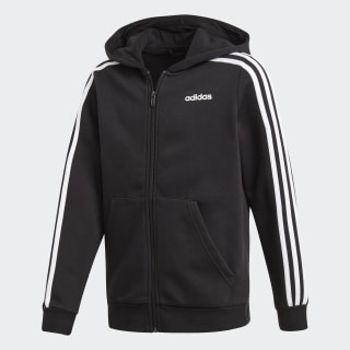 Essentials 3-Stripes Hoodie Black / White / Black DV1823