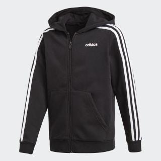 Veste à capuche à 3 bandes Essentials Black / White / Black DV1823