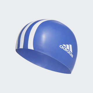 silicone swim cap junior Hi-Res Blue / White CV7670