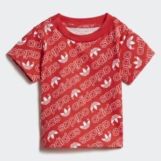 T-shirt Trefoil Monogram Collegiate Red / White DN8163