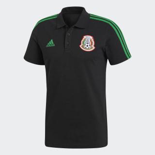Polo 3 Franjas México Black / Green CF0529