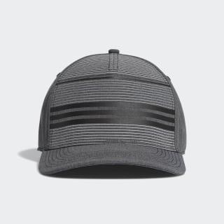 A-Stretch Performance Stripe Cap Black Heather / Grey Three DP1623