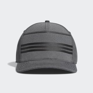 Casquette A-Stretch Performance Stripe Black Heather / Grey Three DP1623