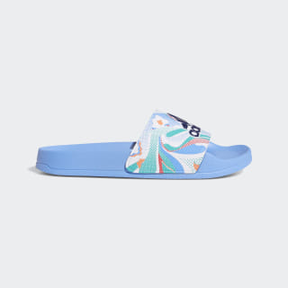 Шлепанцы Adilette real blue / dark blue / real pink s18 EE9036