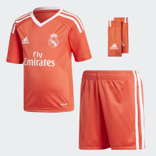 Real Madrid Torwart Mini-Auswärtsausrüstung Bright Red/White B31086