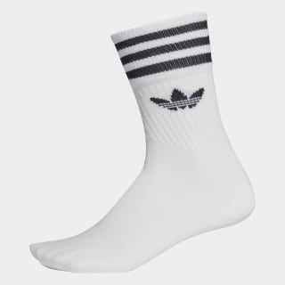Mid-Cut Crew Socks 3 Pairs White / Black DX9091