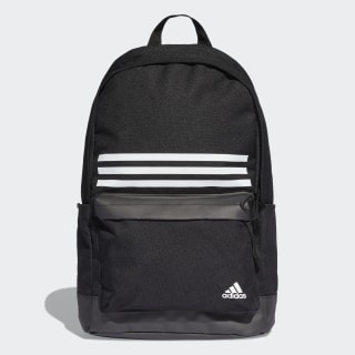 Batoh Classic 3-Stripes Pocket Black / Black / White DT2616