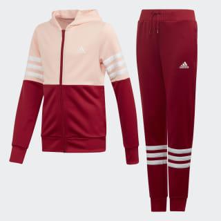 Hooded Trainingsanzug Glow Pink / Active Maroon / White ED4639