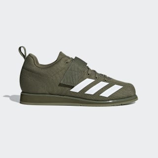 Scarpe Powerlift 4 Green / Cloud White / Raw Khaki BC0344