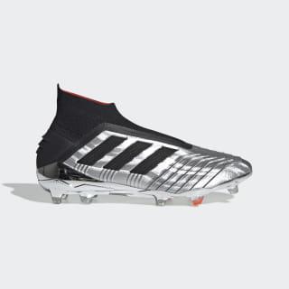 Calzado de Fútbol Predator 19+ Terreno Firme Silver Metallic / Core Black / Hi-Res Red F35611
