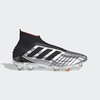 Predator 19+ Firm Ground Cleats Silver Metallic / Core Black / Hi-Res Red F35611