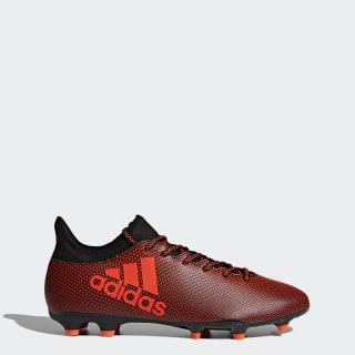 Zapatos de Fútbol X 17.3 Terreno Firme Core Black / Solar Red / Solar Orange S82365