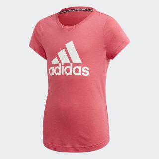 Koszulka Must Haves Badge of Sport Real Pink / White ED4607