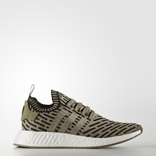 NMD_R2 Primeknit Shoes Steel / Steel / Core Black BA7198