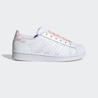 Superstar Schuh Cloud White / Cloud White / Glow Pink FV3763