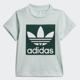 Tričko Trefoil Vapour Green / Collegiate Green / White ED7685