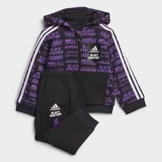 Conjunto Marvel Pantera Negra Jogger Black / Active Purple / White ED6449