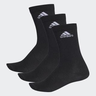 Performance İnce Yarım Boy Çorap - 3 Çift Black / Black / White AA2330
