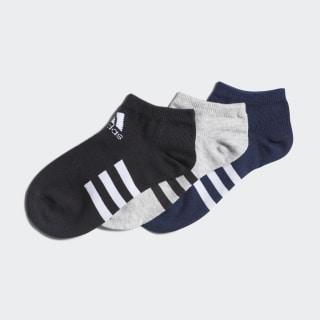 Три пары носков Low Medium Grey Heather / Black / Collegiate Navy FM2337