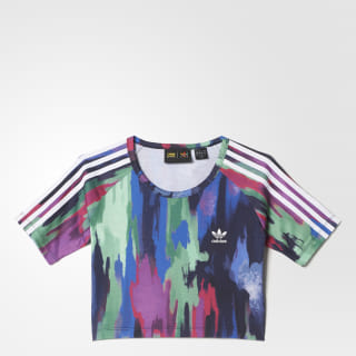 Femmes Pharrell Williams Camouflage Tree Cropped Tee Multicolor AO3155