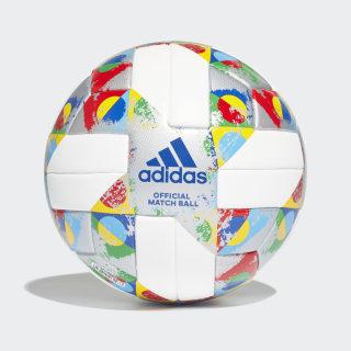 Официальный игровой мяч UEFA Champions League white / silver met. / multicolor CW5300