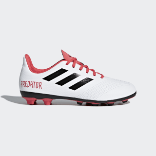 Botas Predator 18.4 Flexible Ground Cloud White / Core Black / Real Coral CP9241