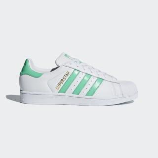 Superstar Schuh Ftwr White / Hi-Res Green / Gold Met. B41995