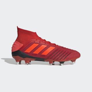 Футбольные бутсы Predator 19.1 SG active red / solar red / core black D98054