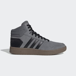 Scarpe Hoops 2.0 Mid Grey Four / Core Black / Core Black EE7367