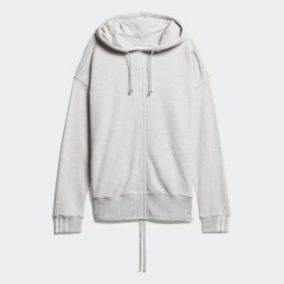 Ruched Hoodie Light Grey Heather DZ0097
