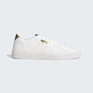 adidas Sleek Schuh Cloud White / Crystal White / Gold Metallic FV3395