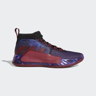Баскетбольные кроссовки Dame 5 core black / collegiate burgundy / scarlet G26134