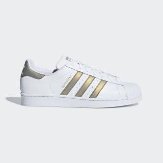 Sapatos Superstar Ftwr White / Grey Four / Gold Met. D98001